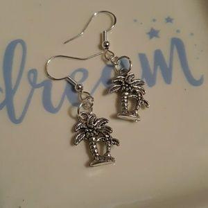 925 Sterling Silver Palm Tree Earrings